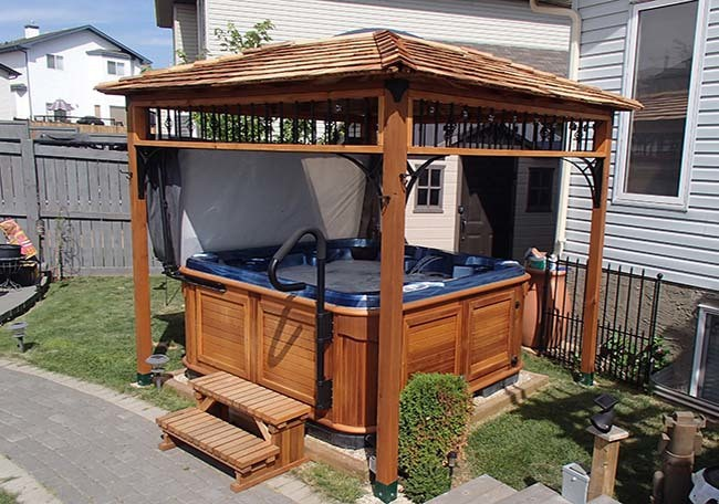 abriter son spa d ext rieur choisir un gazebo. Black Bedroom Furniture Sets. Home Design Ideas